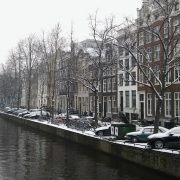 Amsterdam sneeuw februari