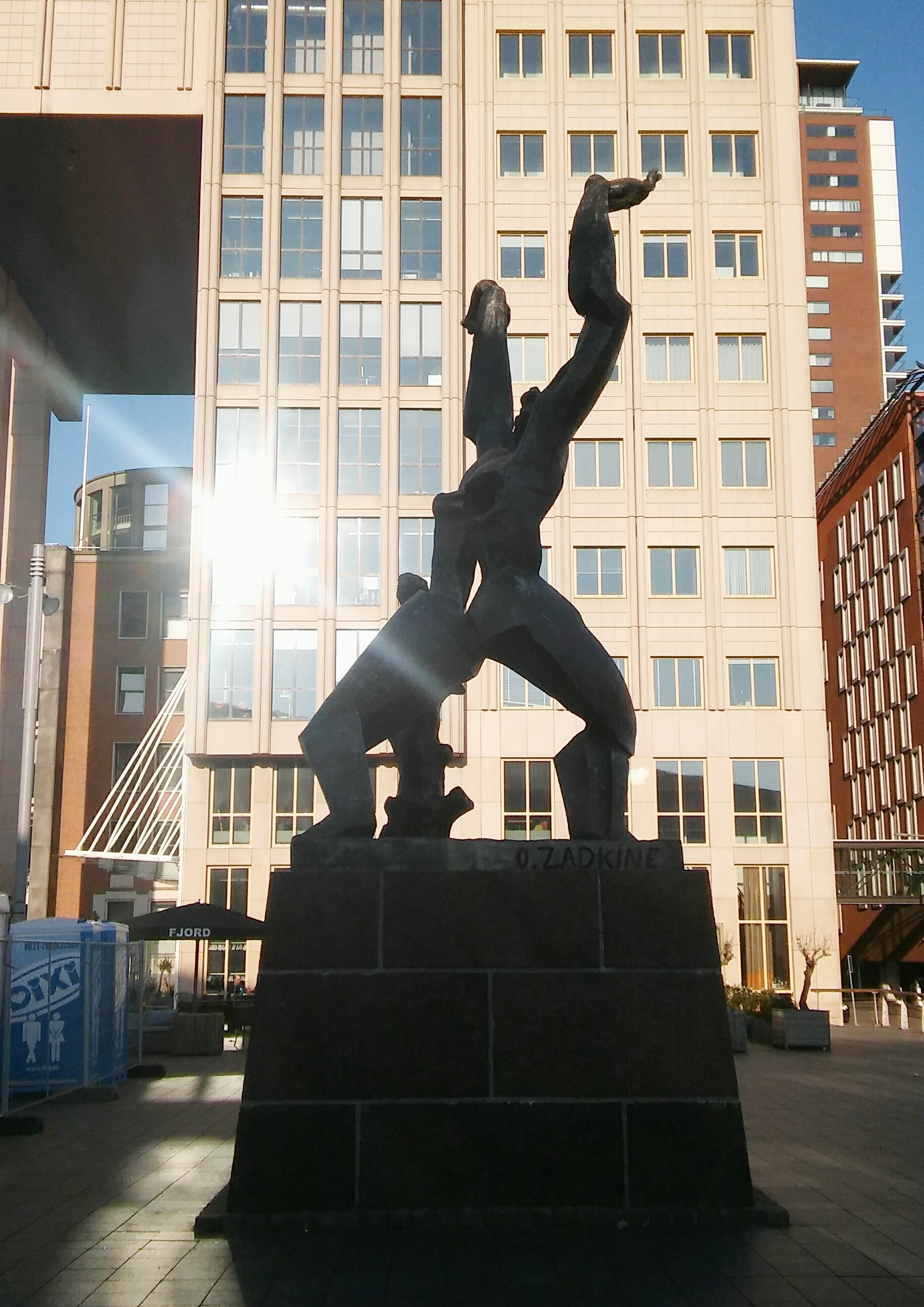 Verwoeste stad Rotterdam