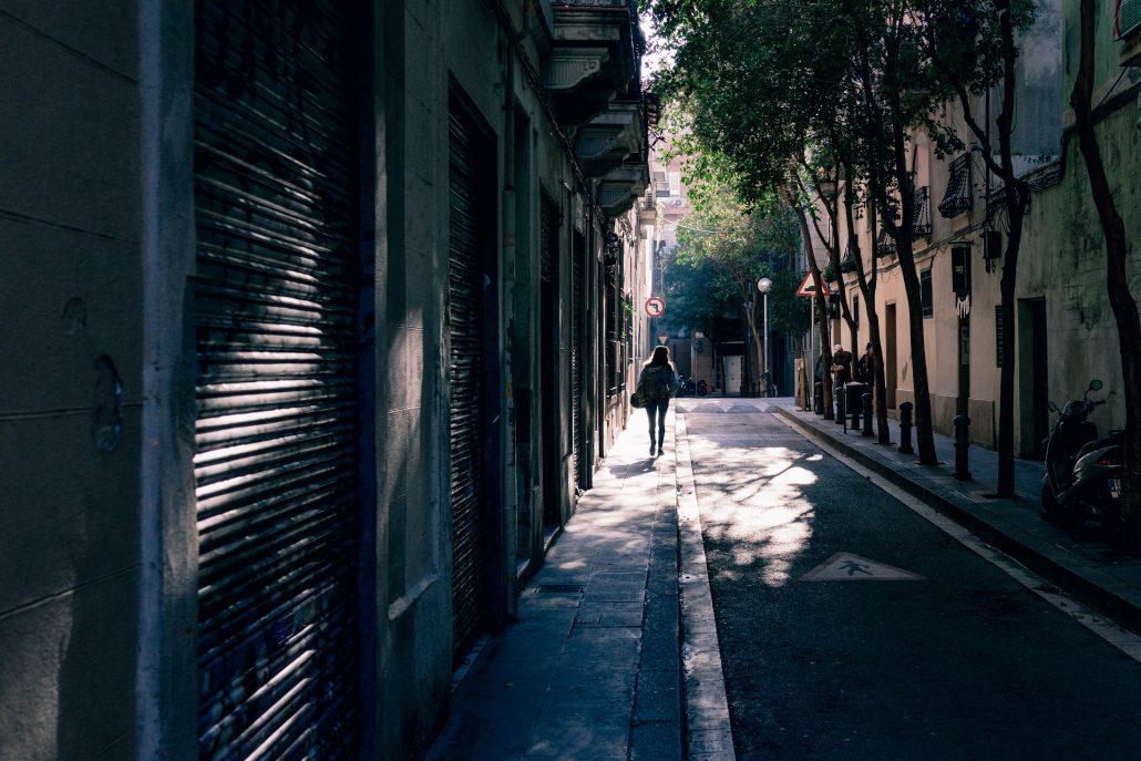stad zomer wandelen