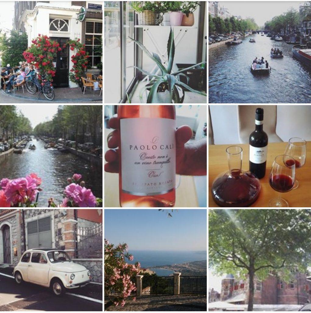 Mijn juni vorig jaar: zomers en genieten van lekkere wijntjes.