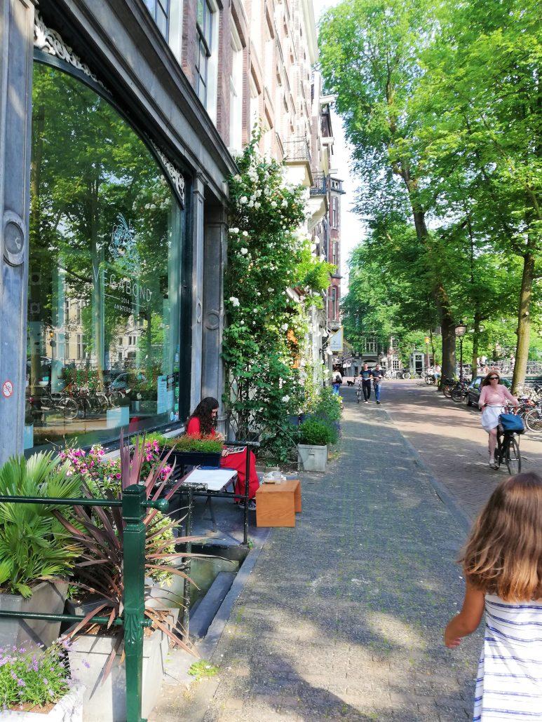 wandeling stad zomer