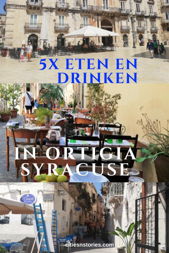 eten drinken Ortigia Syracuse