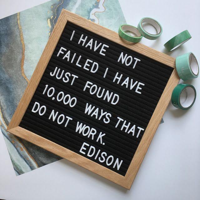 letterbord motivational